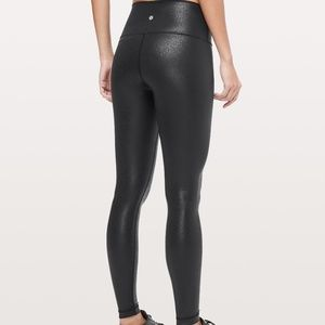 Lululemon Wunder Under High Rise Luminosity/Foil